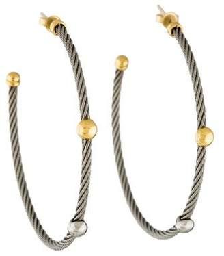 Charriol Nautical Cable Hoop Earrings