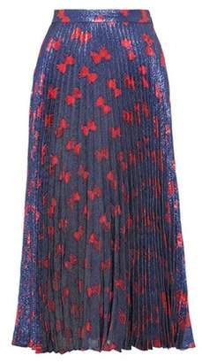 Gucci Printed metallic silk-blend skirt