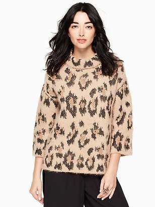 Kate Spade Leopard-print chunky sweater