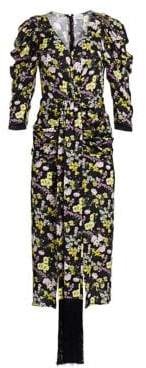 Magda Butrym Downey Floral-Print Silk Midi Dress