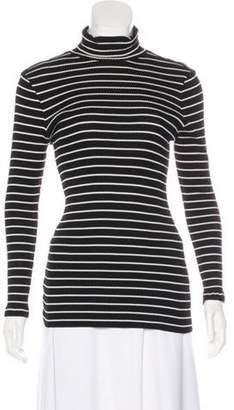 Derek Lam Striped Turtleneck Sweater Black Striped Turtleneck Sweater