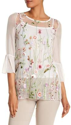 Luma Sheer Floral Embroidered Tunic