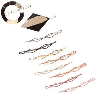 FINEST ACCESSORIES Assorted Hair Clips - Set of 10 $20.97 thestylecure.com