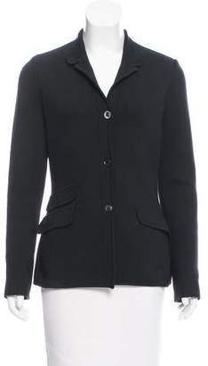 Loro Piana Knit Stand Collar Jacket