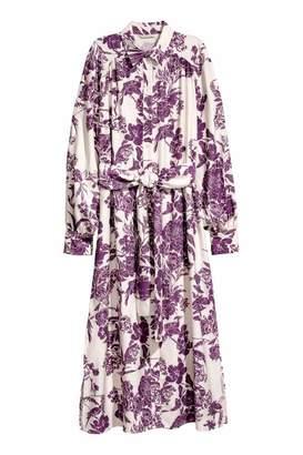 H&M Shirt Dress - Cream/plum - Women