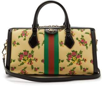 Gucci Ophidia Boston Nylon Bowling Bag - Womens - Cream Multi