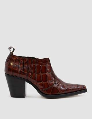 Ganni Nola Ankle Boot in Cognac