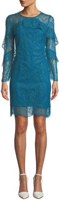 Nanette Lepore Nanette Long-Sleeve Lace Shift Dress