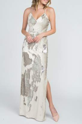 Minuet Reversible Sequin Gown