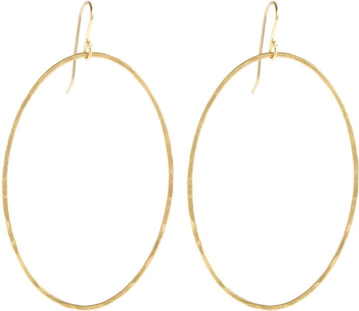 Rosanne Pugliese Gold Large Oval Earrings