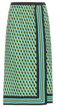 Michael Kors Collection Printed silk skirt