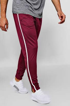 boohoo Skinny Fit Tricot Joggers With Side Tape