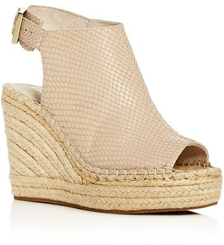 Kenneth Cole Olivia Snake-Embossed Espadrille Wedge Sandals $130 thestylecure.com