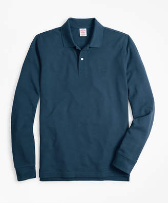 Brooks Brothers Original Fit Supima Long-Sleeve Performance Polo Shirt