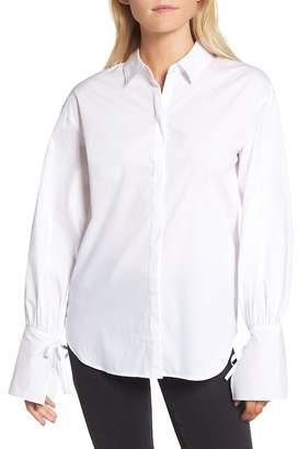Trouve Tie Sleeve Poplin Shirt