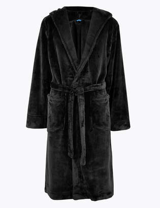 M&S CollectionMarks and Spencer Supersoft Fleece Hooded Dressing Gown