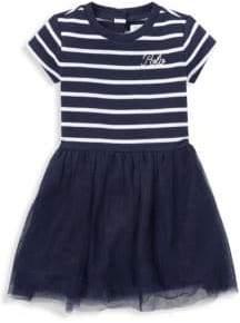 Ralph Lauren Baby Girl's French Terry Stripe Tulle T-Shirt Dress