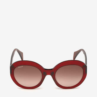 ab2fa9a6cc Bally Rodeo Round Frame Sunglasses Red