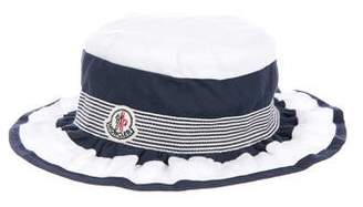 Moncler Girls' Bow-Accented Ruffled Hat w/ Tags