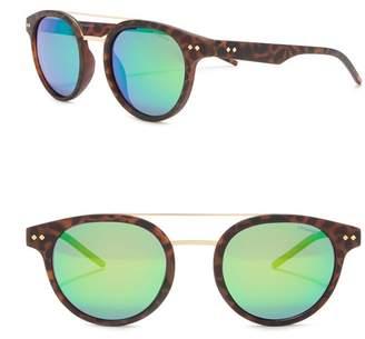 Polaroid Polarized 49mm Round Aviator Sunglasses