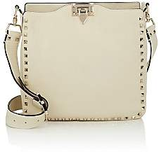 Valentino Women's Rockstud Small Leather Hobo Bag - Ivory
