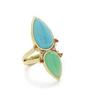 Ippolita Prisma Dots Double-Stone Ring in Portofino, Size 7
