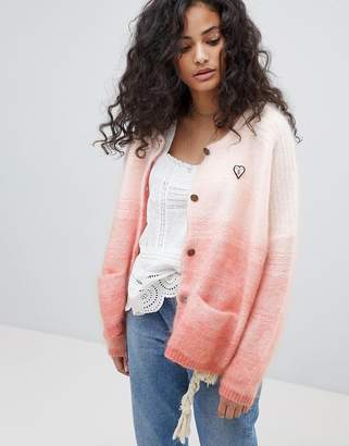 Maison Scotch Chunky Cardigan With Gradient Effect