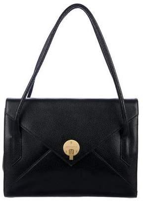 Smythson Leather Flap Shoulder Bag