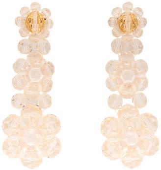 Simone Rocha Pink Three-Tier Drop Earrings