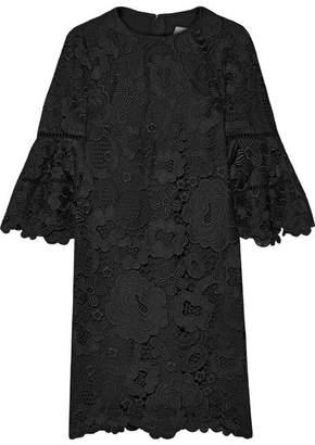 Lela Rose Guipure Lace Dress - Black