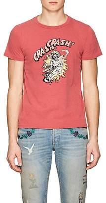 """Remi Relief Men's """"Crash Crash"""" Cotton Jersey T-Shirt - Red"""