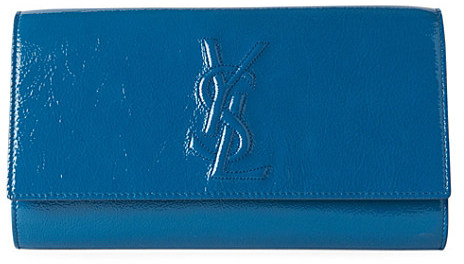 YVES SAINT LAURENT Belle de Jour large patent clutch