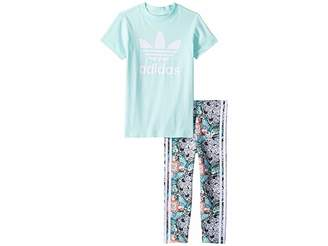 adidas Kids Zoo Tee Leggings Set (Infant/Toddler)