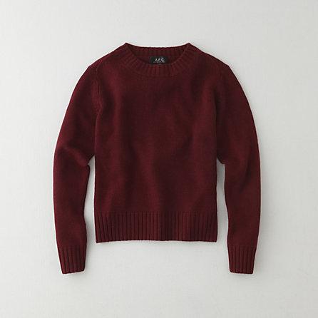 A.P.C. wool cashmere crewneck sweater
