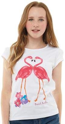 Board Angels Girls Flamingo T-Shirt White