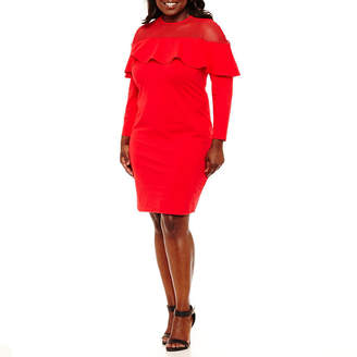 PROJECT RUNWAY Project Runway Ruffle Top Bodycon Dress - Plus
