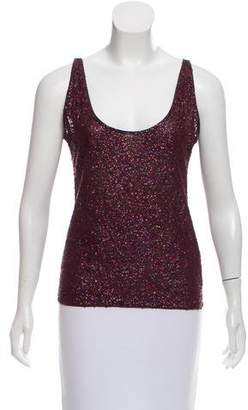 Rene Lezard Sequin Sleeveless Top