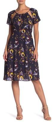Line & Dot Faye Cutout Print Dress