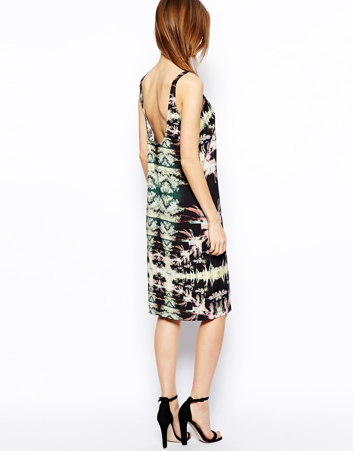 Asos Hawaiian Palm Print Slip Dress