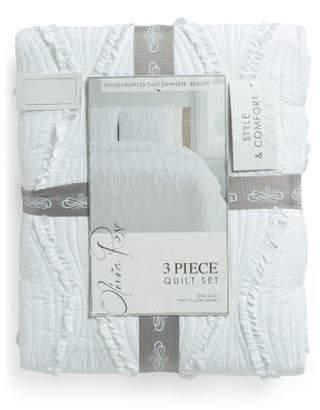 Ogee Ruffle Quilt Set