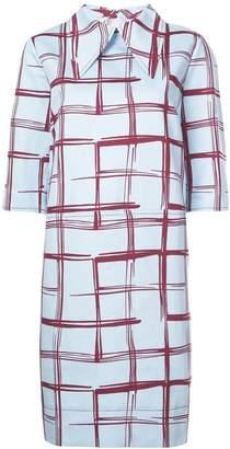 Marni abstract windowpane shift dress