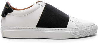 Givenchy Leather Urban Street Elastic Strap Low Sneakers $595 thestylecure.com
