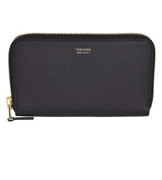 Tom Ford Logo Zip Around Wallet