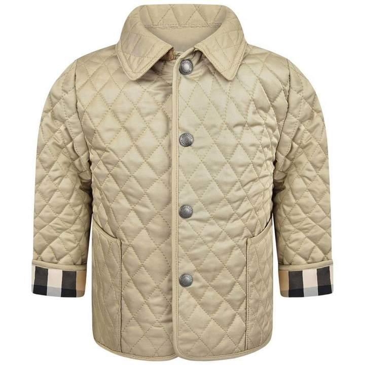 BurberryBaby Boys Beige Quilted Colin Jacket