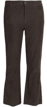 Current/Elliott The Kick Jean Cropped Cotton-Blend Corduroy Bootcut Pants