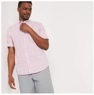 Joe Fresh Men's Plaid Shirt, Dark Blush (Size S)