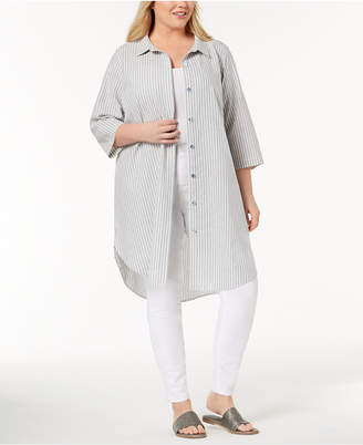 Eileen Fisher Plus Size Organic Cotton Tunic