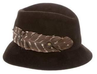 Lola Hats Feather Embellished Fedora