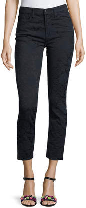 7 For All Mankind Jen7 By Perforated Jacquard Skinny Ankle Jeans