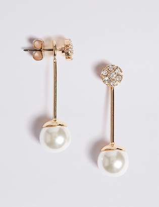 Marks and Spencer Flower Pearl Front & Back Earrings
